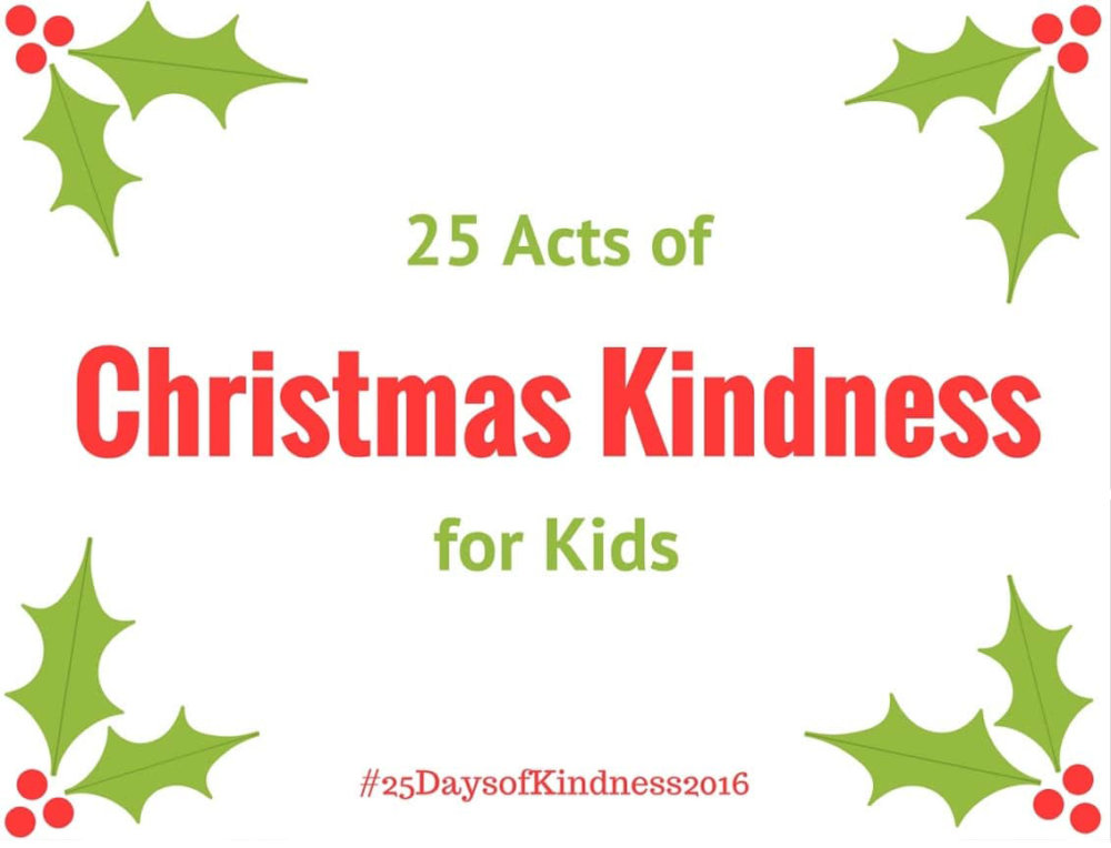 25 Acts Of Christmas Kindness For Kids Teetertot